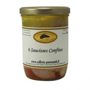 6 saucisses confites 700g