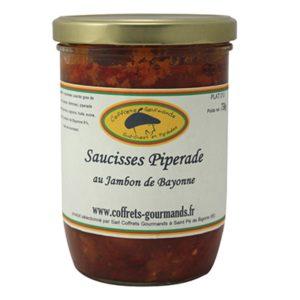 Saucisses Piperade au jambon de Bayonne