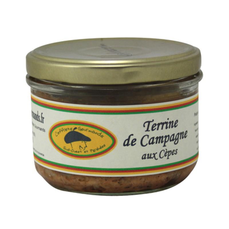 Terrine de campagne aux cèpes